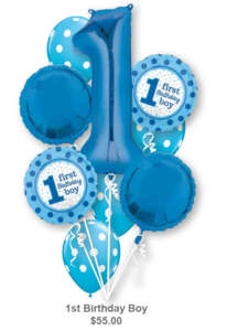 1st Birthday Bouquets | Balloons by Luba